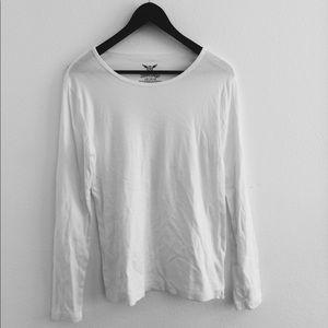 faded glory white long sleeve